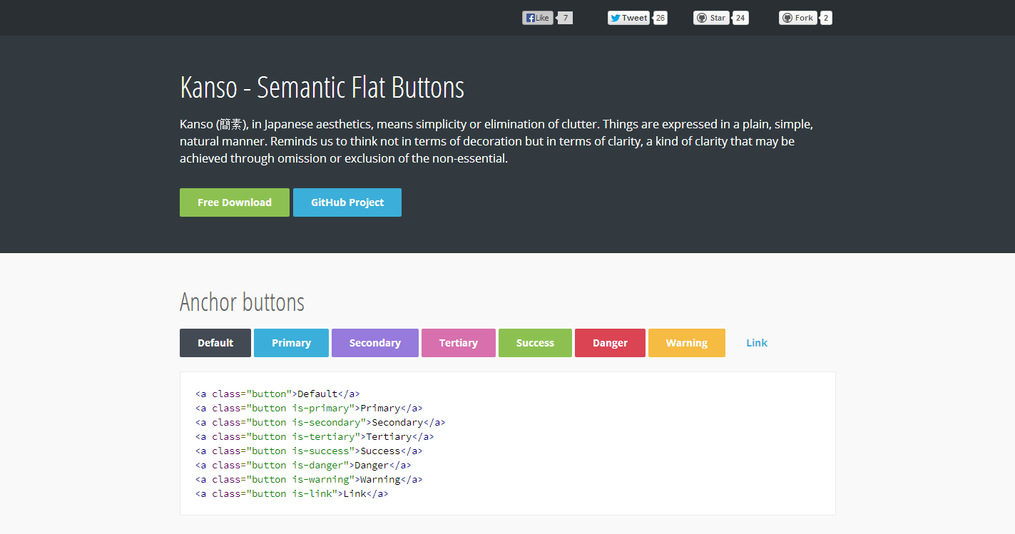 Semantic Flat Buttons