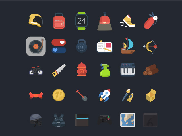 120+ Free PSD colourful and amazing icons – Freebiesbug