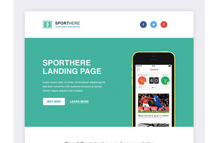Responsive SportHere Template — download free html by PixelBuddha