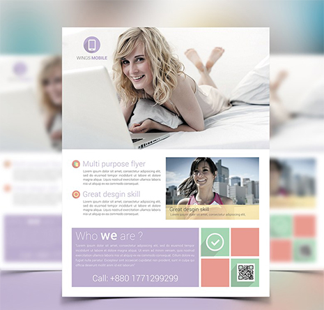 Free Flyer/Poster Mock-up template – PSDboom