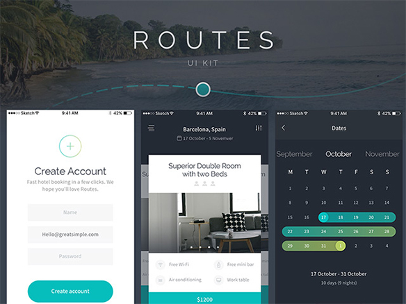 Beautiful UI kit in PSD for iOS – Free Sample pack – Freebiesbug