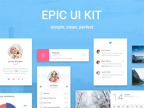 Epic UI: free exclusive and beautiful sample pack – Freebiesbug