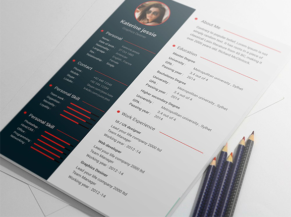 PSD CV/Resume  Premium Design Template with Cover Letter – PSDboom