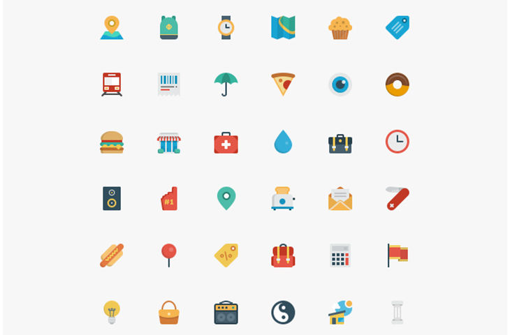 Free Flat Icons Bundle — download free icons by PixelBuddha