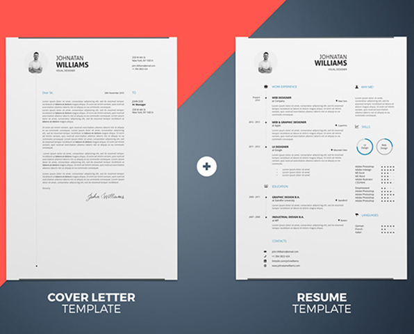 Impressive Resume Templates download free by PixelBuddha Flat Design