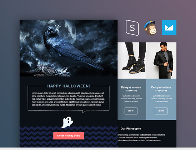 Halloween Email Template — download free HTML Template by PixelBuddha