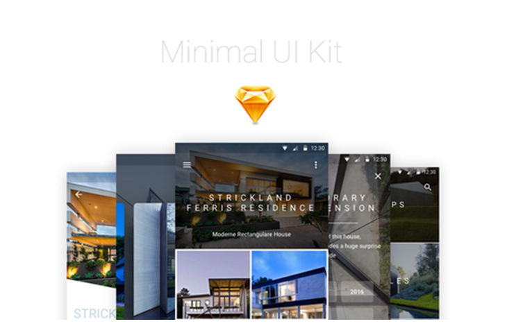 Minimal UI Kit SKETCH – by Mohamed Kerroudj