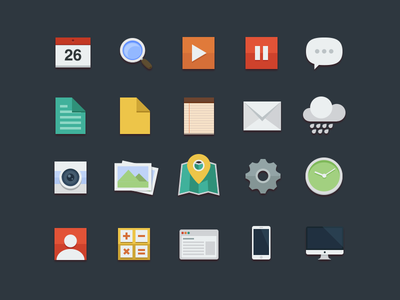Awesome Flat Icons
