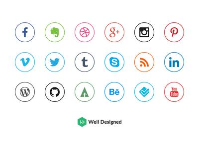 20 Social Media Icons