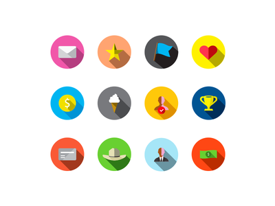 Flat Reward Icons