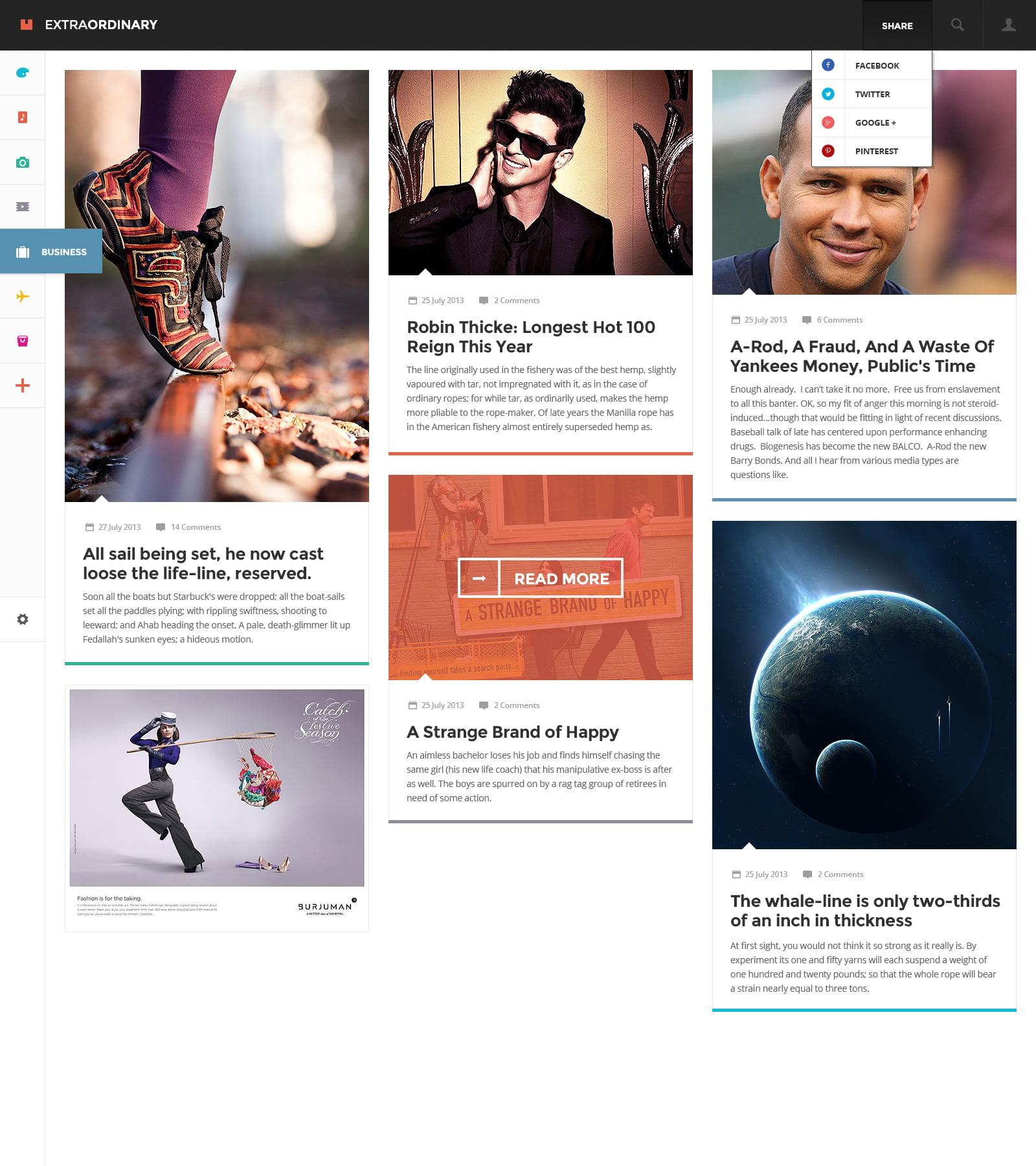 Flat WordPress