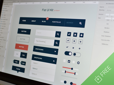 Flat Ui Kit for Sketch