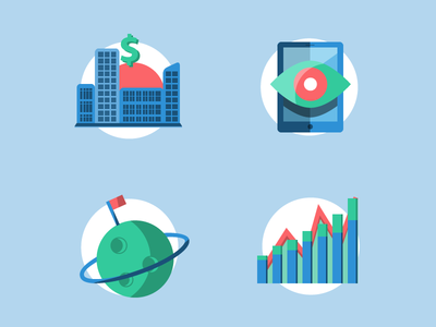 Free Flat colorful icons