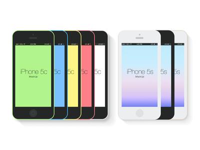 Free Flat iPhone 5c