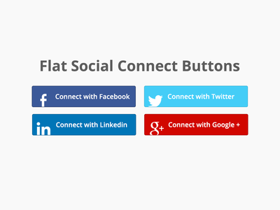 Social Connect Buttons
