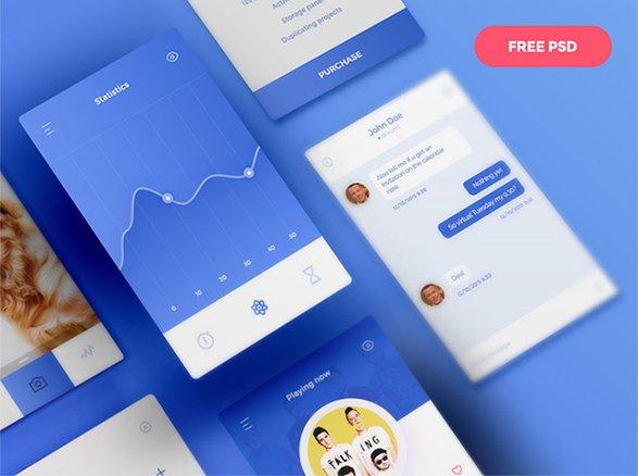 30 free awesome UI kit elements – Freebiesbug