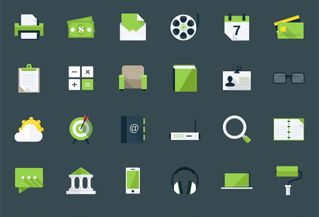 60 Modern Flat Icons – graphberry.com