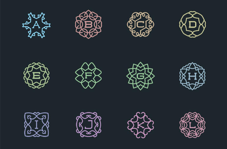 56 Awesome Vector Monograms — download free impressive vectors by PixelBuddha