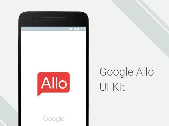 Google Allo: Beautiful Free UI kit for Photoshop – Freebiesbug