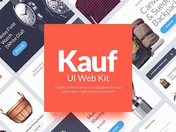 Kauf : Beautiful Free web UI kit for Photoshop – Freebiesbug