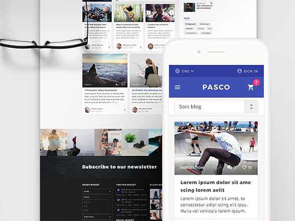 Pasco: A free PSD multipurpose beautiful template – Freebiesbug