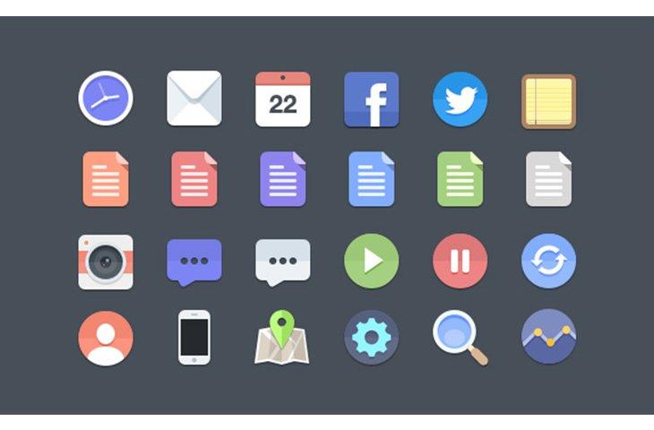24 Flat style  Icons (PSD) by Jan Dvořák