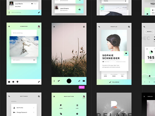 Relate UI kit: 45 free templates – Freebiesbug