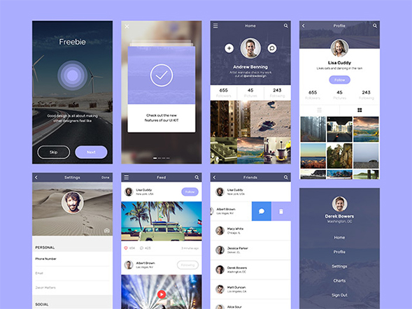 Social app concept creatives design – Freebiesbug