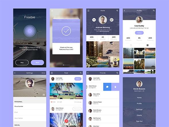 Social app concept creatives design – Freebiesbug