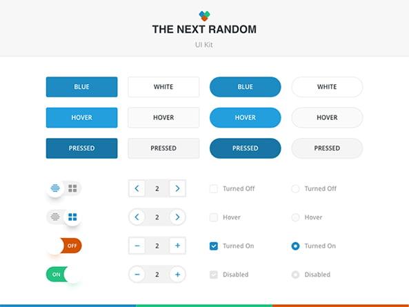 The Next Random: awesome UI kit for Sketch – Freebiesbug